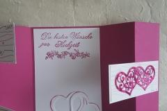 Hochzeitskarte, innen