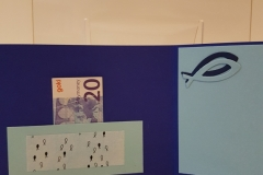 Kommunion, Konfirmation - blau, innen, Geldfach