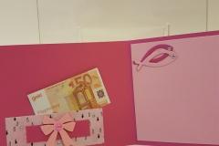 Kommunion, Konfirmation - pink, innen, Geldfach
