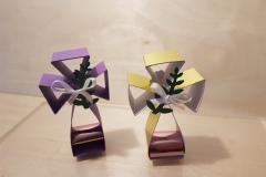 Tischdeko Kreuz mit Schoki - zum Mitnehmen für die Gäste