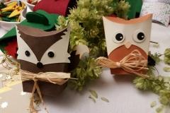 Eule  und Fuchs Geschenkbox